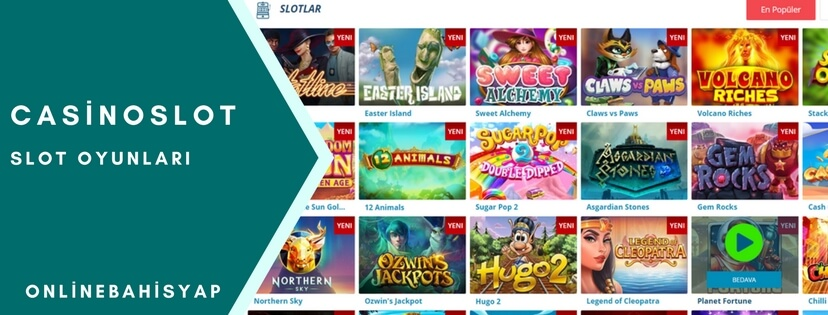 casinoslot slot oyunlari