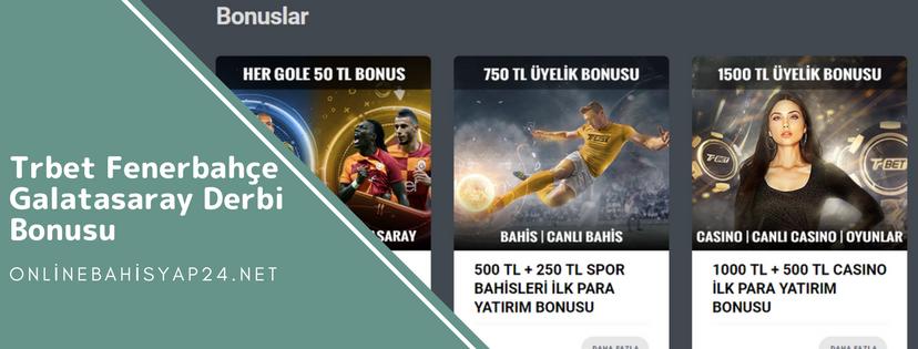 Trbet Fenerbaçe – Galatasaray Maçına Derbi Bonusu Veriyor!