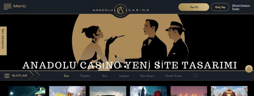 Anadolu Casino Yeni Site Tasarımı