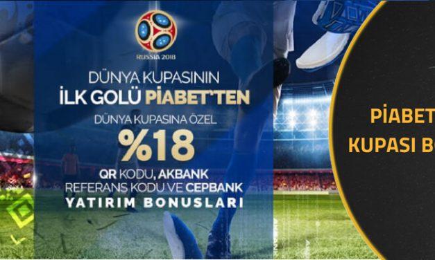 Piabet 2018 Dünya Kupası Bonusları